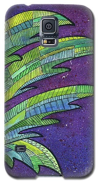 Palms Against The Night Sky Galaxy S5 Case by Diane Thornton