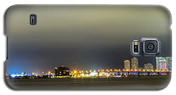 Skylines Galaxy S5 Cases - Panorama of Biscayne Bay in Miami Florida Galaxy S5 Case by Andres Leon