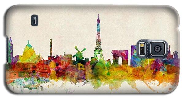 Paris France Skyline Panoramic Galaxy S5 Case by Michael Tompsett