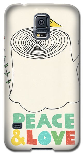 Peace And Love Galaxy S5 Case by Eric Fan
