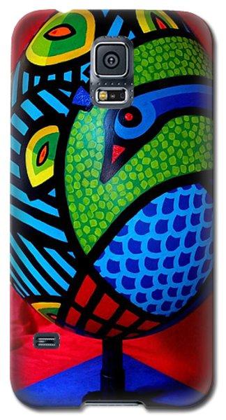 Sculptures Galaxy S5 Cases - Peacock Egg II  Galaxy S5 Case by John  Nolan