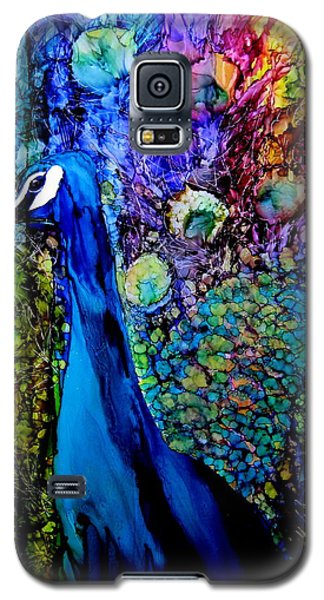 Bird Galaxy S5 Cases - Peacock II Galaxy S5 Case by Karen Walker