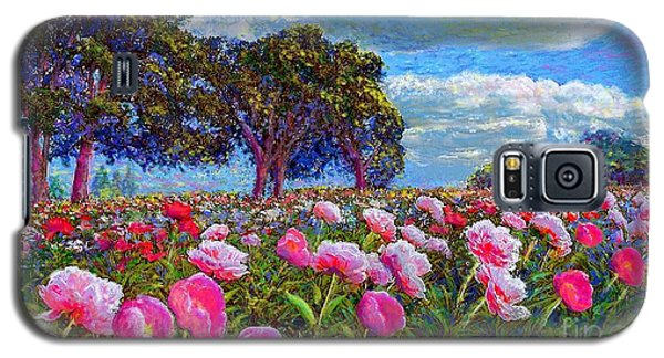 Plant Galaxy S5 Cases - Peony Heaven Galaxy S5 Case by Jane Small