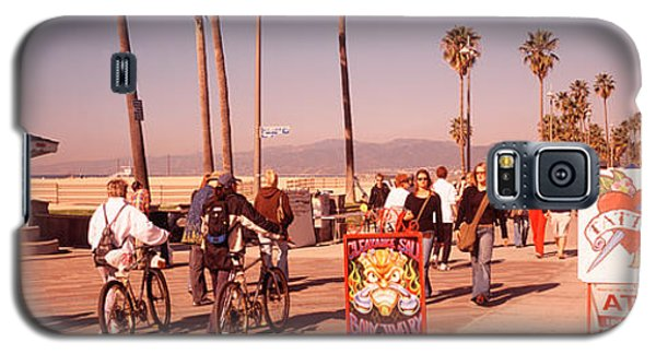 People Walking On The Sidewalk, Venice Galaxy S5 Case by Panoramic Images