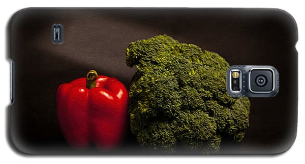 Pepper Nd Brocoli Galaxy S5 Case by Peter Tellone