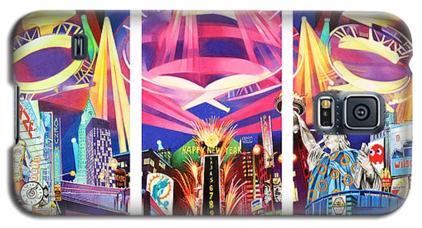 Phish New York For New Years Triptych Galaxy S5 Case by Joshua Morton