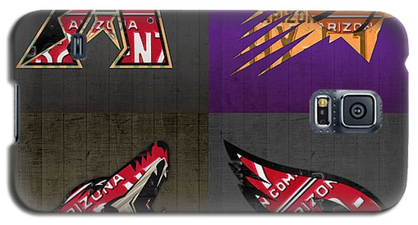 Phoenix Sports Fan Recycled Vintage Arizona License Plate Art Diamondbacks Suns Coyotes Cardinals Galaxy S5 Case by Design Turnpike