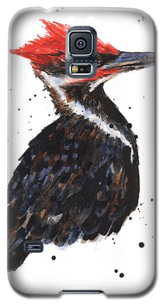Pileated Woodpecker Watercolor Galaxy S5 Case by Alison Fennell