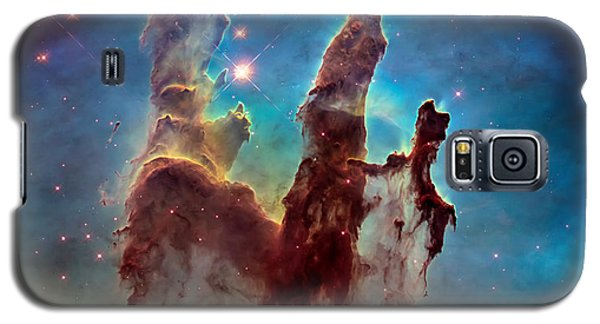 Pillars Of Creation In High Definition - Eagle Nebula Galaxy S5 Case by The  Vault - Jennifer Rondinelli Reilly