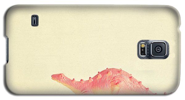 Pink Dinosaur Galaxy S5 Case by Cassia Beck