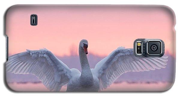 Bird Galaxy S5 Cases - Pink Swan Galaxy S5 Case by Roeselien Raimond
