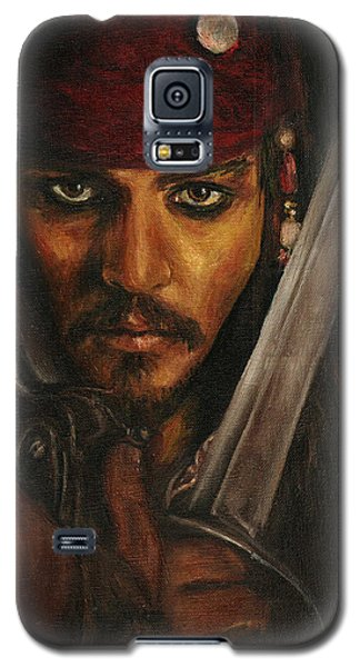 Pirates- Captain Jack Sparrow Galaxy S5 Case by Lina Zolotushko