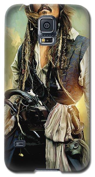 Pirates Of The Caribbean Johnny Depp Artwork 1 Galaxy S5 Case by Sheraz A