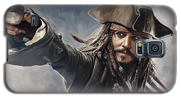 Pirates Of The Caribbean Johnny Depp Artwork 2 Galaxy S5 Case by Sheraz A
