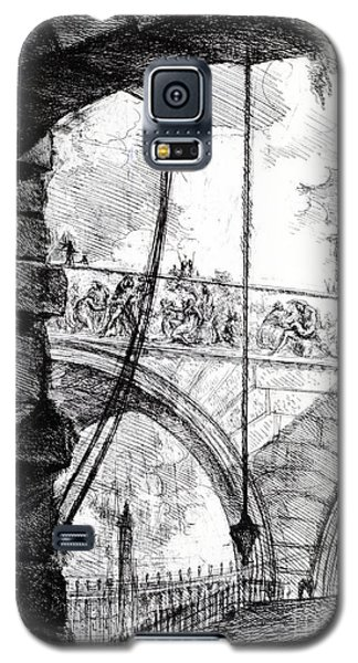 Plate 4 From The Carceri Series Galaxy S5 Case by Giovanni Battista Piranesi