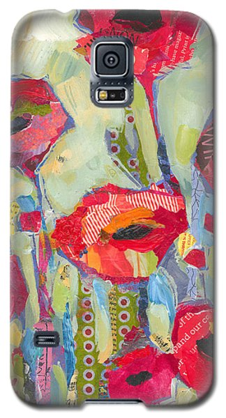 Flower Galaxy S5 Cases - Poppies No 5 Galaxy S5 Case by Shelli Walters