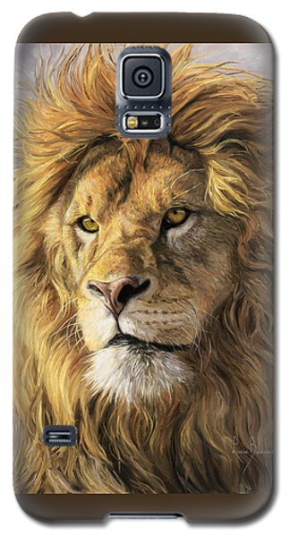 Portrait Of A Lion Galaxy S5 Case by Lucie Bilodeau