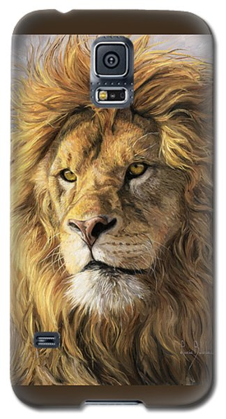 Paintings Galaxy S5 Cases - Portrait Of A Lion Galaxy S5 Case by Lucie Bilodeau
