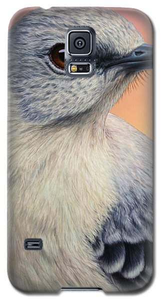 Portrait Of A Mockingbird Galaxy S5 Case by James W Johnson