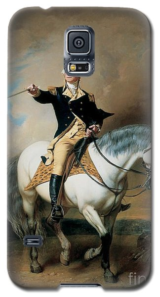 Portrait Of George Washington Taking The Salute At Trenton Galaxy S5 Case by John Faed