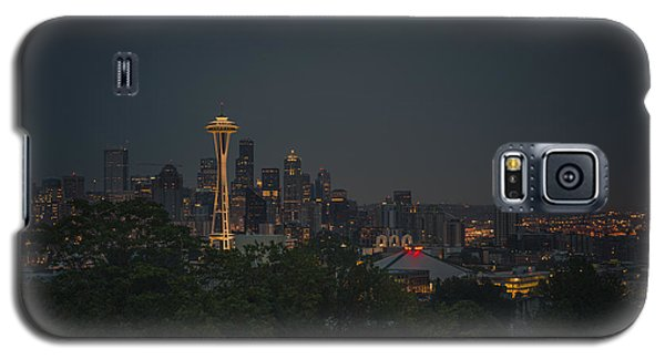 Skylines Galaxy S5 Cases - Pre-dawn Seattle Galaxy S5 Case by Gene Garnace