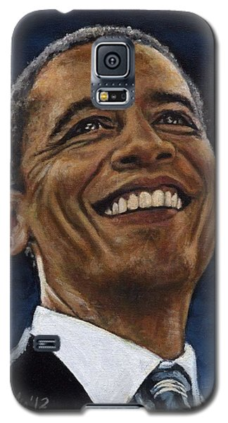 President Barack Obama Galaxy S5 Case by Neil Feigeles