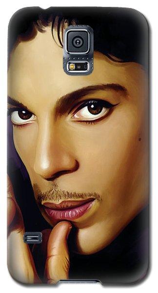 Music Galaxy S5 Cases - Prince Artwork Galaxy S5 Case by Sheraz A