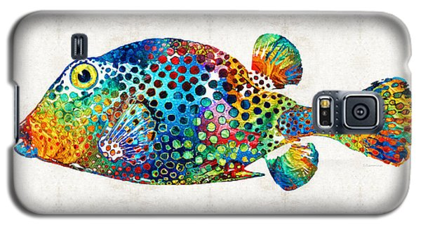 Puffer Fish Art - Puff Love - By Sharon Cummings Galaxy S5 Case by Sharon Cummings