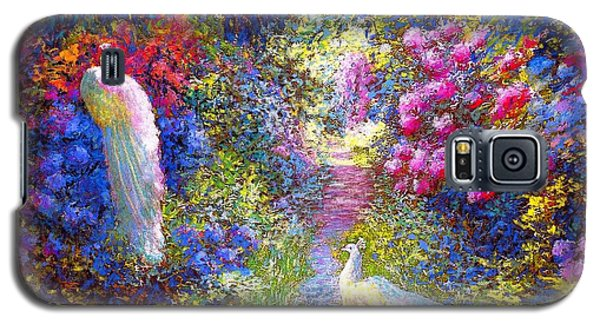 White Peacocks, Pure Bliss Galaxy S5 Case by Jane Small