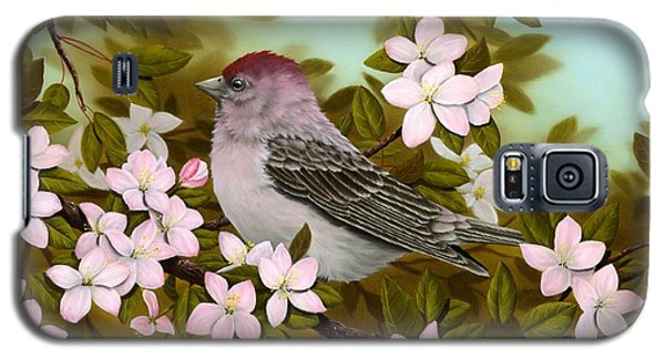 Purple Finch Galaxy S5 Case by Rick Bainbridge