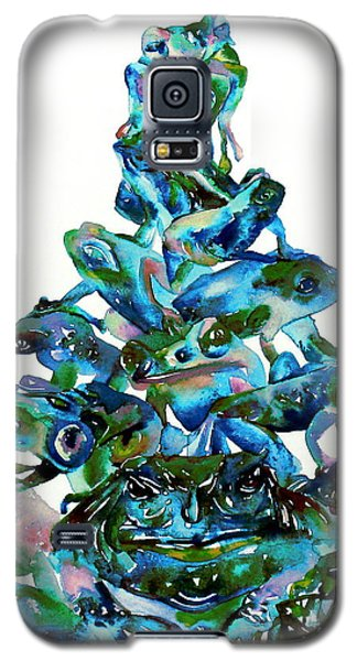 Pyramid Of Frogs And Toads Galaxy S5 Case by Fabrizio Cassetta