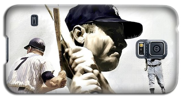 Quality Of Greatness Mickey Mantle Galaxy S5 Case by Iconic Images Art Gallery David Pucciarelli