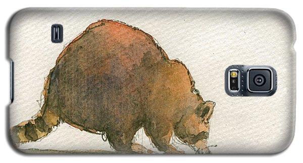 Raccoon Galaxy S5 Case by Juan  Bosco