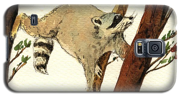 Raccoon On Tree Galaxy S5 Case by Juan  Bosco