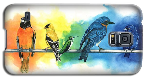 Bird Galaxy S5 Cases - Rainbow Birds Galaxy S5 Case by Antony Galbraith