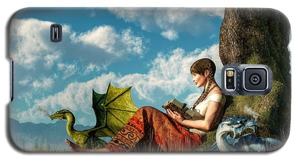 Reading About Dragons Galaxy S5 Case by Daniel Eskridge