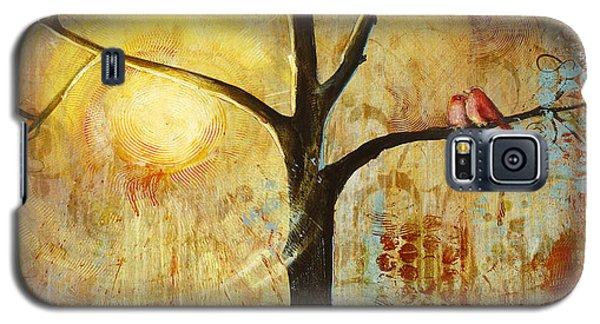 Red Birds Tree Version 2 Galaxy S5 Case by Blenda Studio