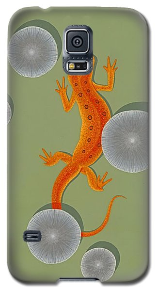 Red Eft Newt Galaxy S5 Case by Nathan Marcy