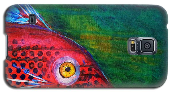 Red Fish Galaxy S5 Case by Nancy Merkle