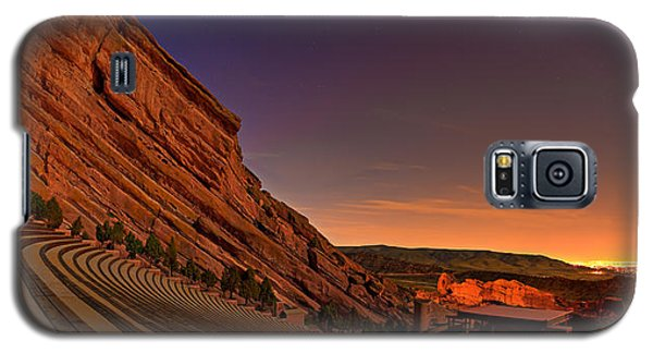 Landscapes Galaxy S5 Cases - Red Rocks Amphitheatre at Night Galaxy S5 Case by James O Thompson