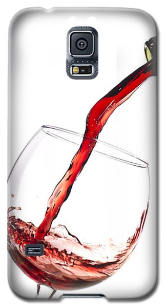 Red Wine Pouring Into Wineglass Splash Galaxy S5 Case by Dustin K Ryan