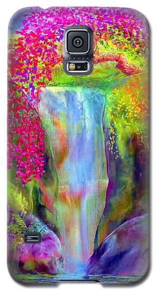 Green Galaxy S5 Cases - Redbud Falls Galaxy S5 Case by Jane Small