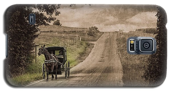 Riding Down A Country Road Galaxy S5 Case by Tom Mc Nemar
