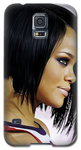 Rihanna Artwork Galaxy S5 Case by Sheraz A