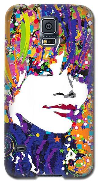 Rihanna In Blue Galaxy S5 Case by Irina Effa