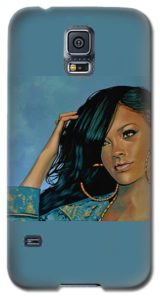 Rihanna Painting Galaxy S5 Case by Paul Meijering