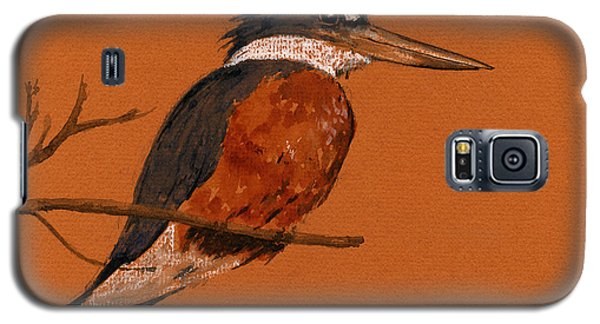 Ringed Kingfisher Bird Galaxy S5 Case by Juan  Bosco