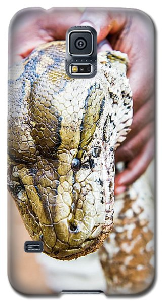 Rock Python Recovered From Poachers Galaxy S5 Case by Peter Chadwick