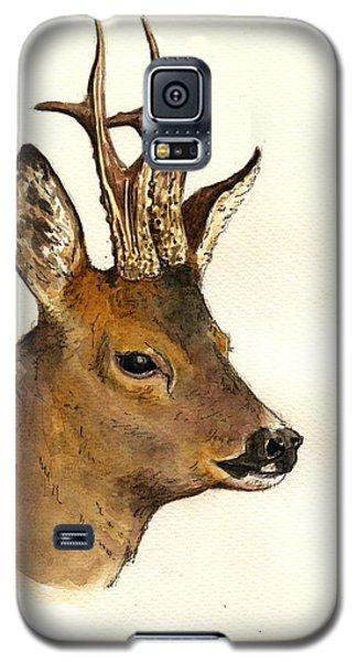 Roe Deer Head Study Galaxy S5 Case by Juan  Bosco