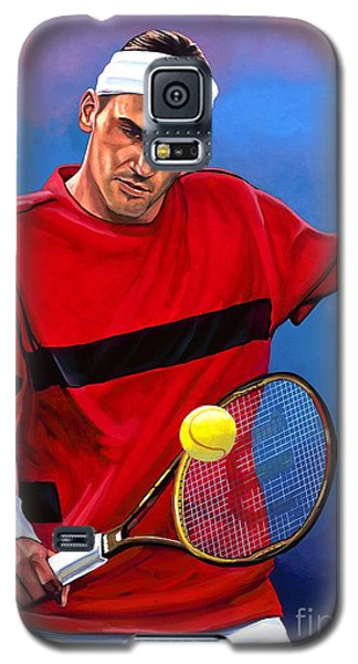 Roger Federer The Swiss Maestro Galaxy S5 Case by Paul Meijering